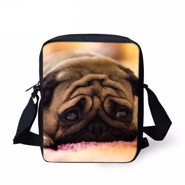 Animal Photo Printed Cross Body Bag