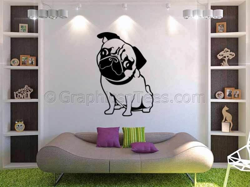 bfaf669fa81 Pug Puppy Dog Wall Sticker