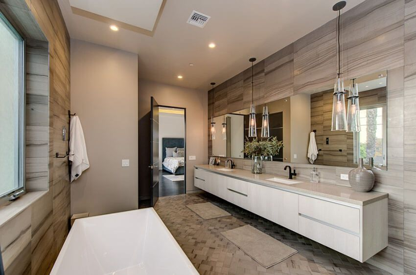 21 Bathroom Pendant Lighting Design Ideas Contemporary Master Bathroom Modern Master Bathroom Luxury Modern Master Bathroom