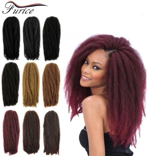 Afro Kinky Marley Braid Twist Braid Hair 18in 80g 40 Strands