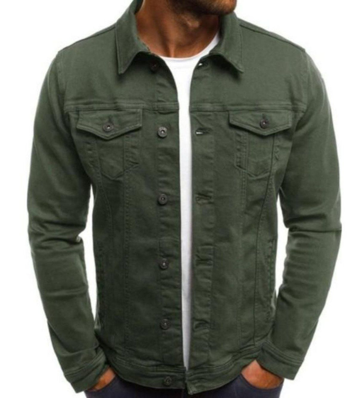 Mens Casual Utility Shirt Jacket Denim Jacket Fashion Denim Jacket Men Casual Denim Jacket [ 1338 x 1200 Pixel ]
