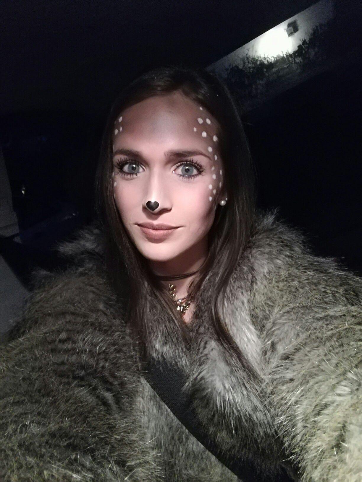 Reh Kostüm Bambi Karneval Schminke Fasching Costume ...