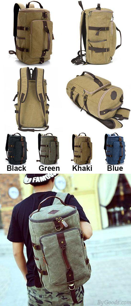 Retro Multifunction Zipper Large Capacity Travel Rucksack Mens Gym Shoulder Bag Handbag School Canvas Backpack for big sale