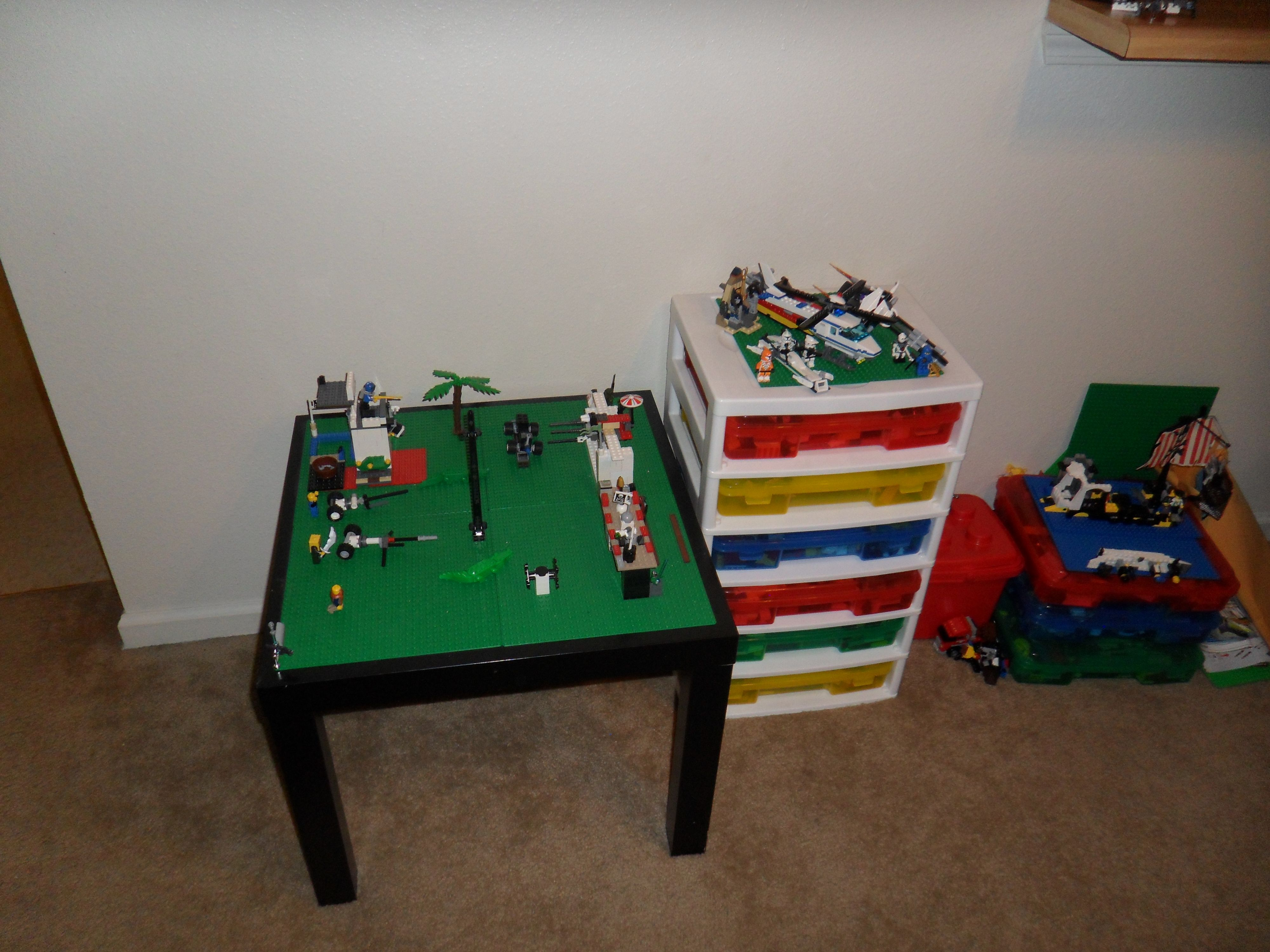 Lego Table Cheap End Ikea 10. Add 4 Sheets. Perfect Size Child