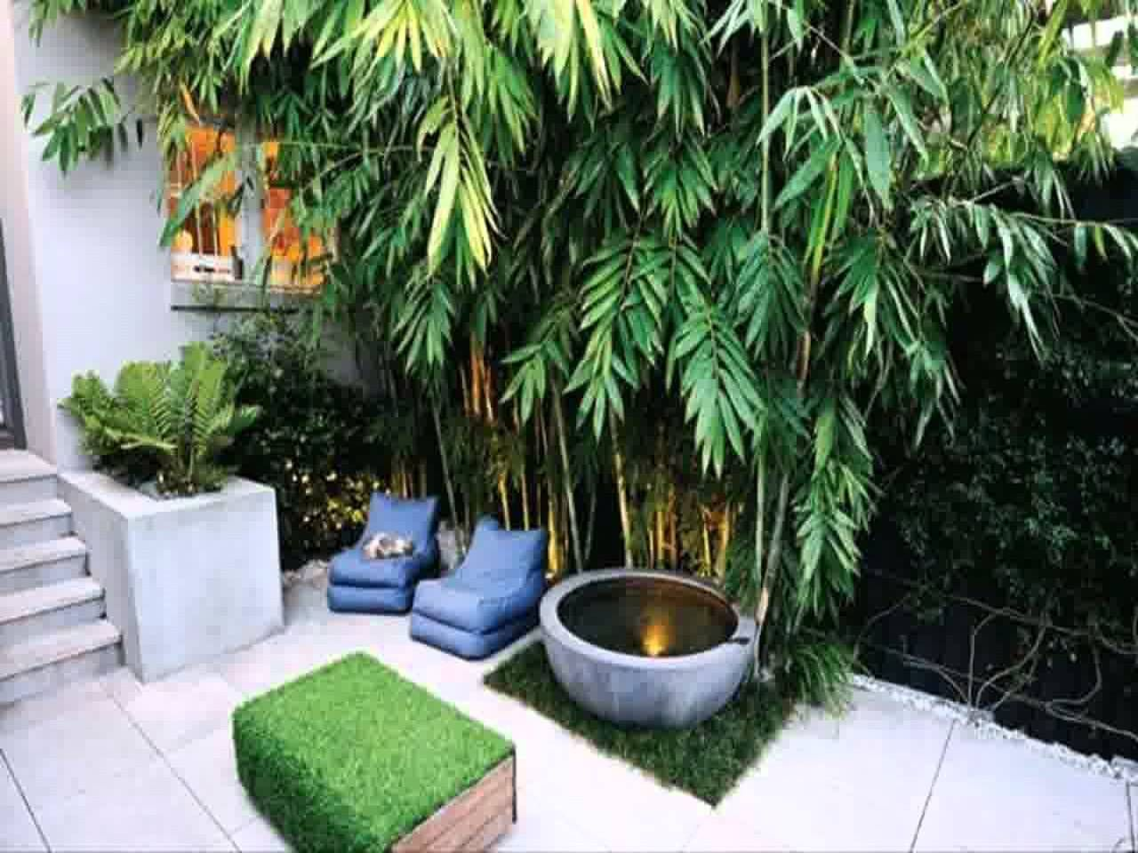 Small space courtyard garden design ideas youtube for Small garden design ideas with lawn