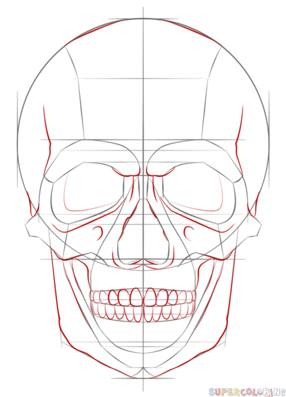 Super How To Draw A Human Skull Step By Step Drawing Tutorials For Kids Short Hairstyles For Black Women Fulllsitofus