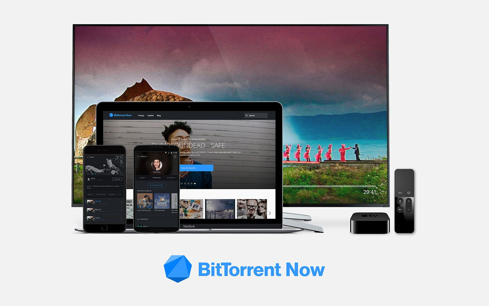 BitTorrent Now is an open, adsupported music and video