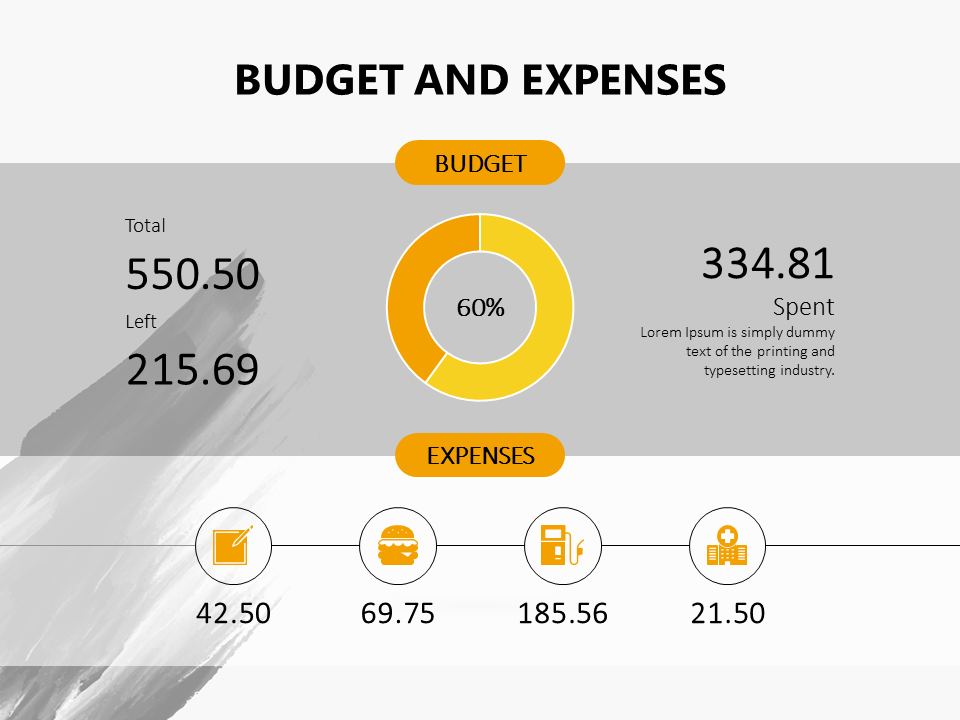 Budget And Expenses Powerpoint Slide Presentationdesign