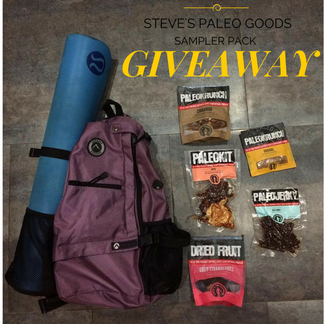Yoga Training and yummy Paleo Snacks plus a Giveaway from Steve's Paleo Goods!