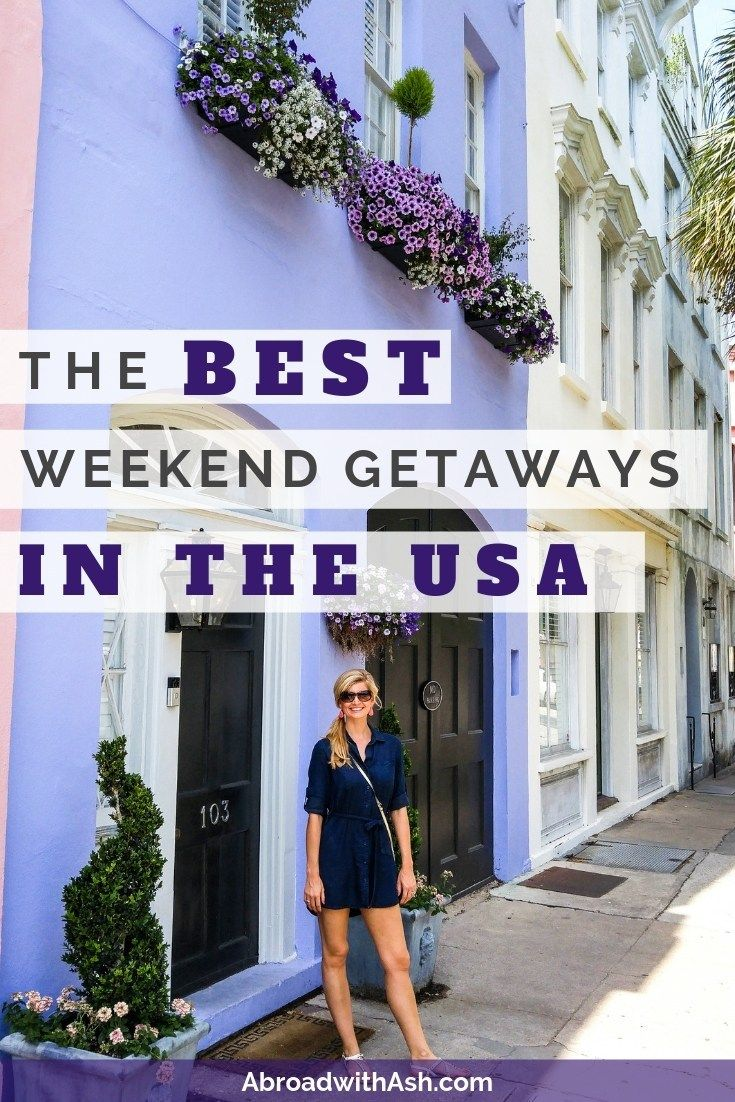 The BEST weekend getaways in the USA. See my favorite quick trips that can be done over a weekend so you can save your vacation days for future travels! #weekendgetaways #bestweekendgetaways #usweekendgetaways #bestweekendgetawaysintheusa #usweekendtrips #usaweekendtrips #usvacation #usavacation #bestvacationsintheusa #bestvacationsintheus