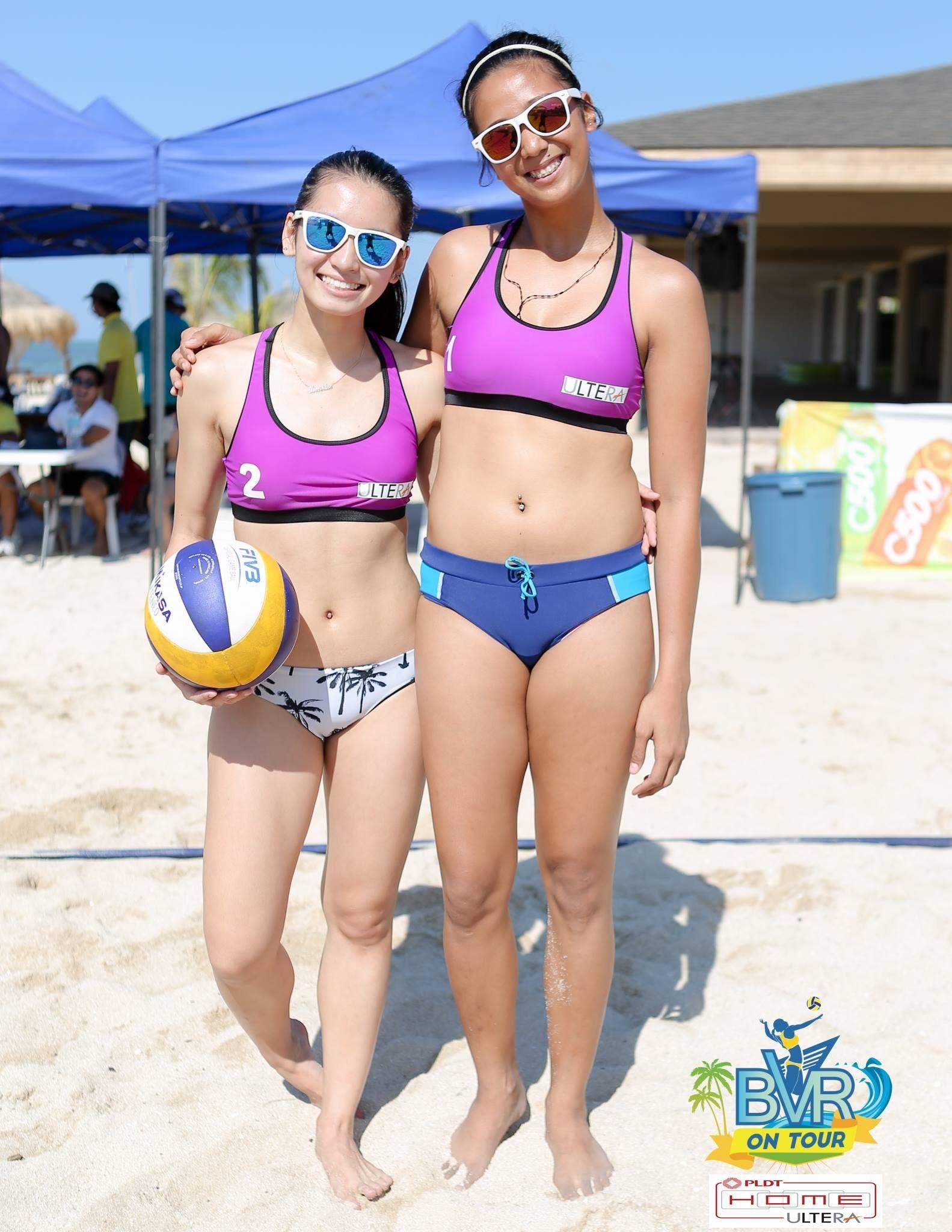 Pin By Rio Mns On Volleyball Philippine Women High Neck Bikinis Beach Volleyball