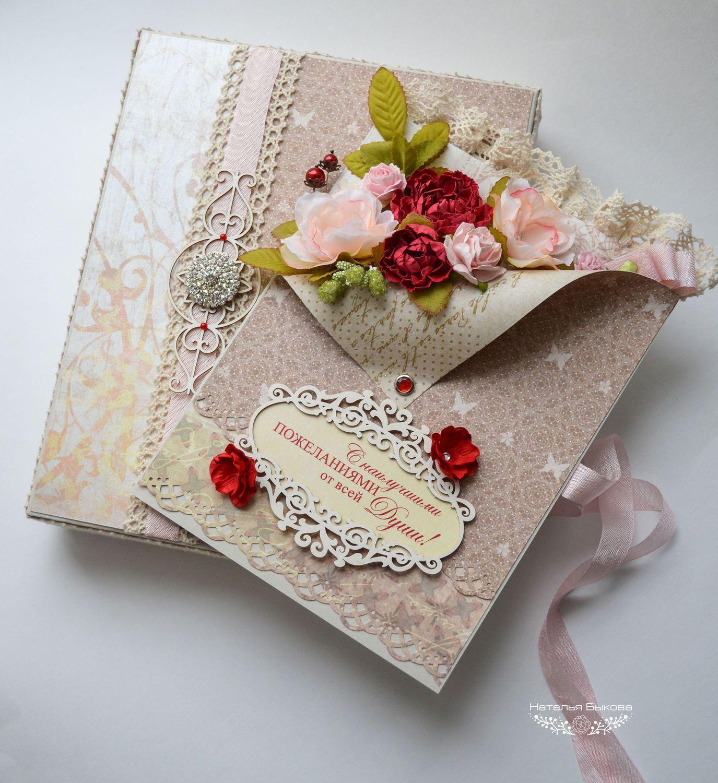 Скрап открытка с юбилеем для женщины