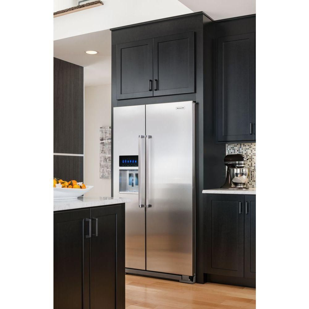 Kitchenaid 22 7 Cu Ft Side By Side Refrigerator In Monochromatic