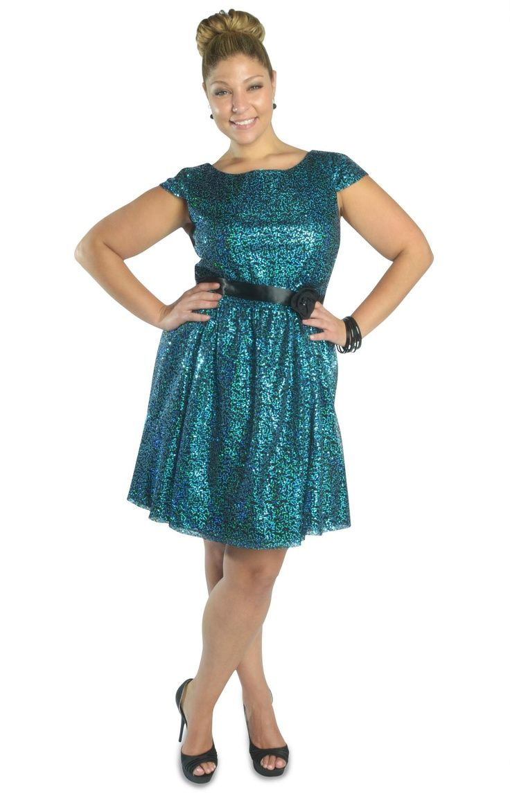 Curvy Girl Fashion one shoulder bow all over sequin dress! I ...