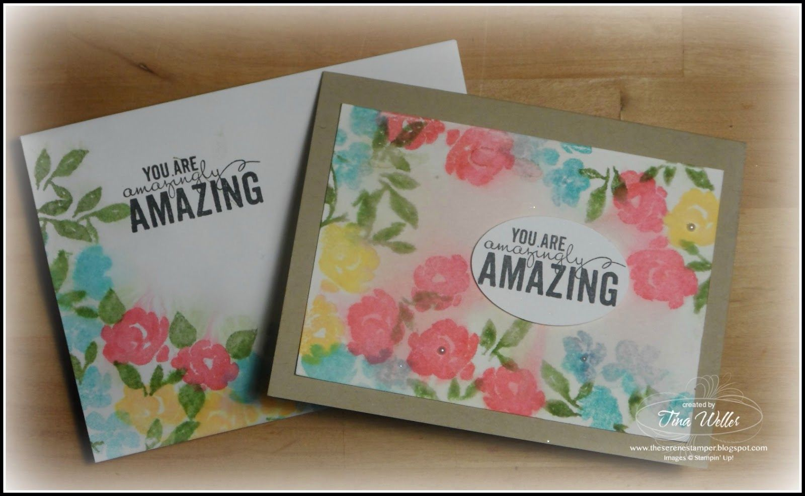 The Serene Stamper: Painted Petals Thank You Cards  Stampin' Up!