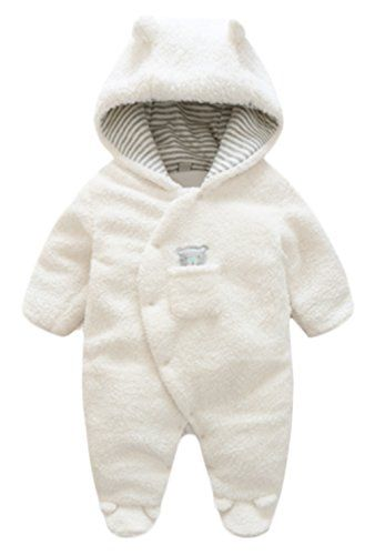 7fae0d597ffb Newborn Baby Winter Thicken Cartoon Sheep Snowsuit Warm Fleece ...