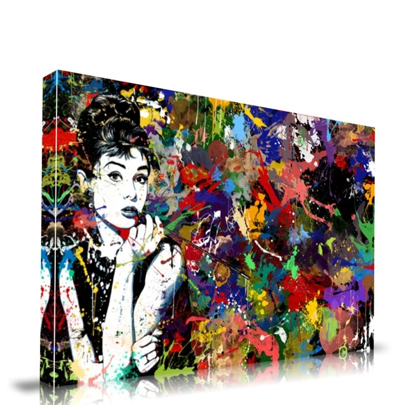 Audrey Hepburn Art Canvas Wall Art Pop Art Paintings Drawing Posters
