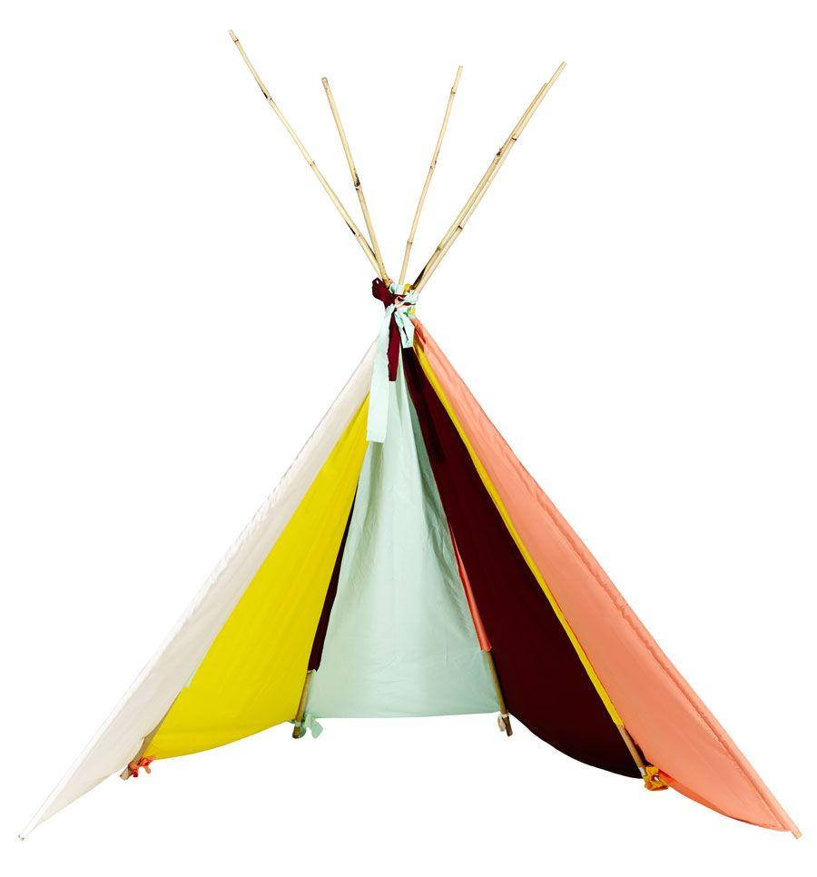 Ein Tipi für die Kleinen: Wir zeigen, wie man ein Indianer-Zelt fürs Kinderzimmer bastelt.