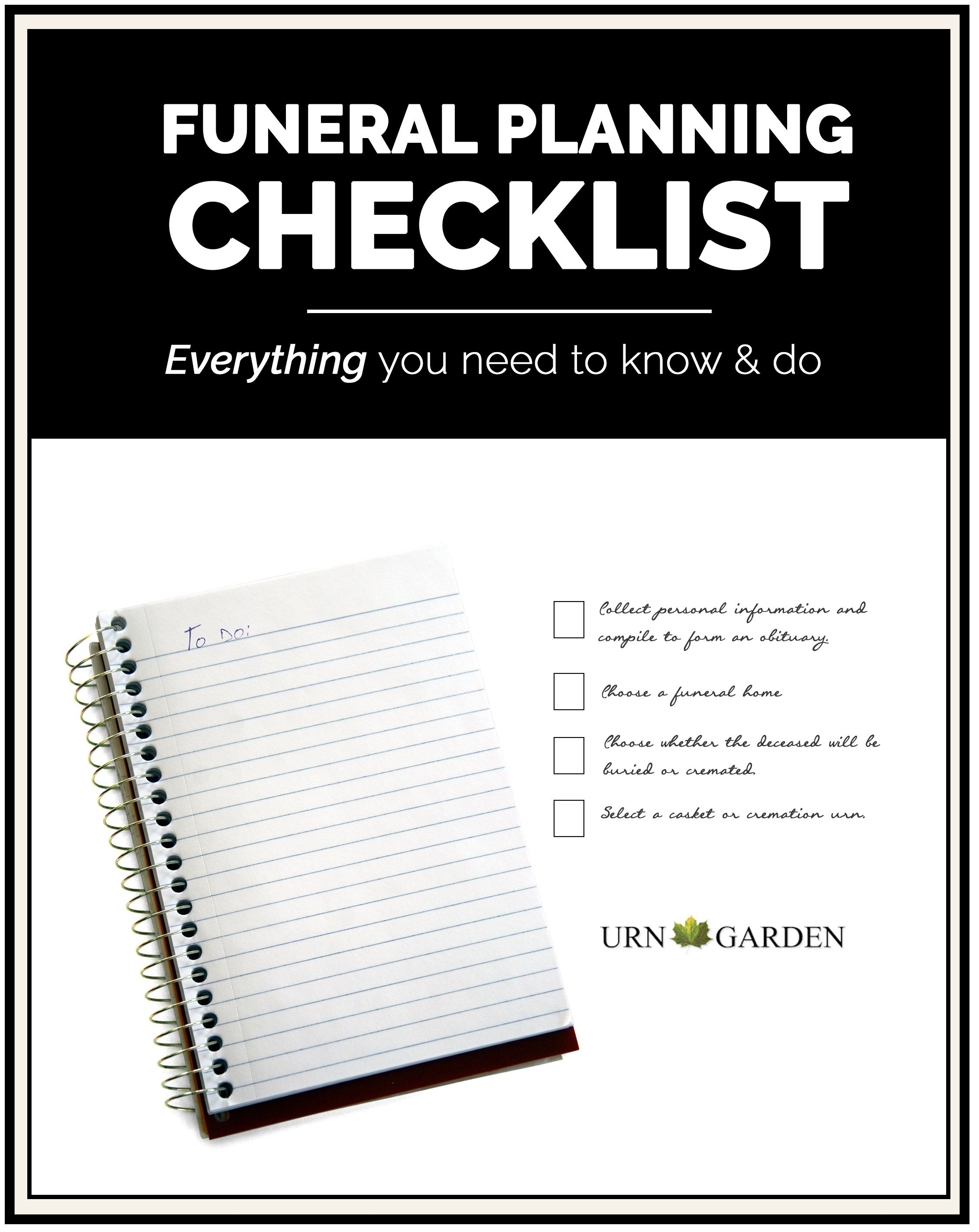 funeral planning checklist best of urn garden pinterest