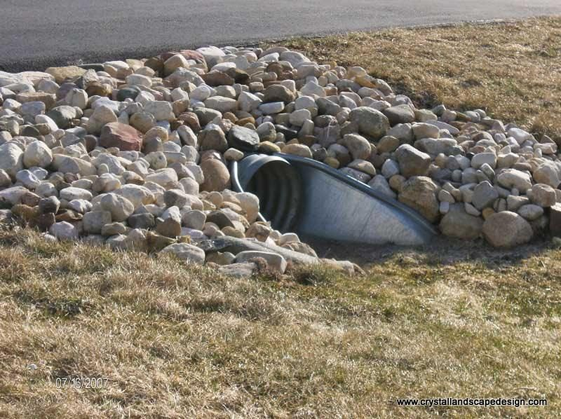 Idea for around a culvert google image result for http for Drain pipe landscaping