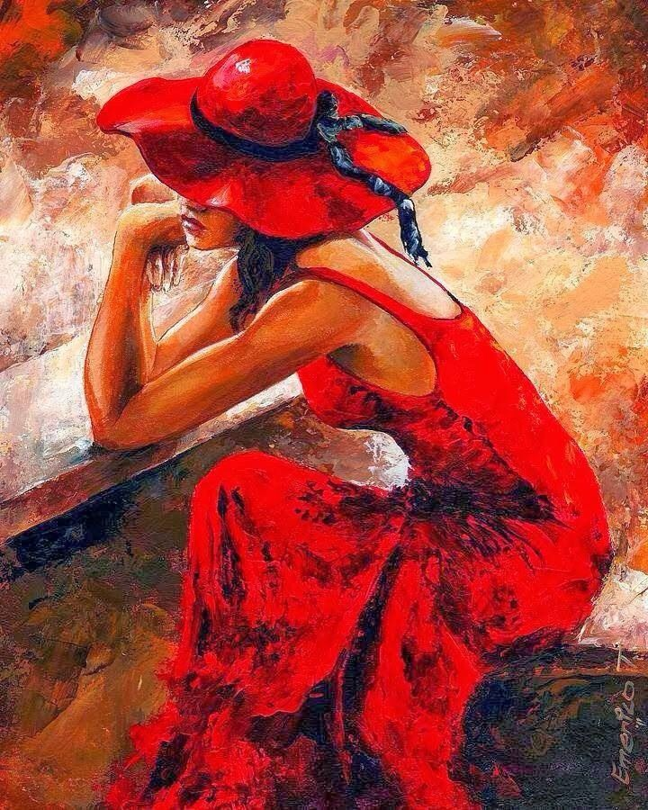 """«Emerico Imre Toth: """"Lady in Red""""»."""