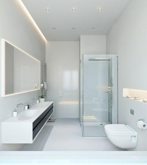 Bad Beleuchtung planen - Tipps und Ideen mit Led-Leuchten - led lampen für badezimmer