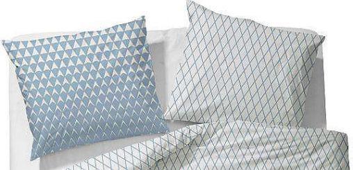 Esprit Kissenbezug, »Mina«, im Rauten Design, blau, Baumwolle, blau