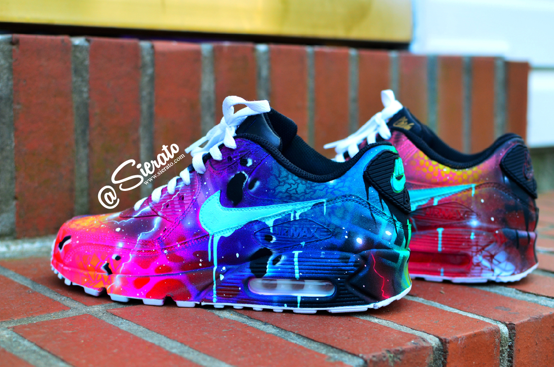 "Custom Nike ""GalactiMAX"" 90s Sierato Nike shoes women"