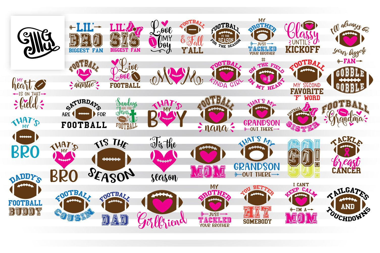 Download Football Svg Bundle (Graphic) by Illustrator Guru (With ...