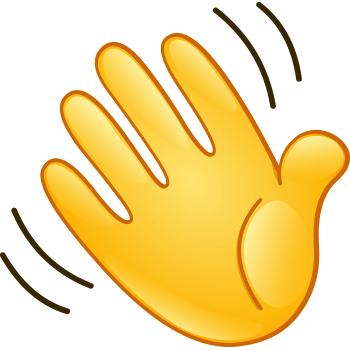 Waving Hand Hand Symbols Hand Clipart Symbols Emoticons