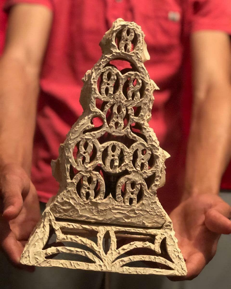 """Lamp Tower"" traditional skills & Handmade craft, with a wonderful texture & brilliantly in light 💡 thank you all & i hope you love this gift from me , I appreciate alot your supporting for keep going as well.  #ceramics #pottery  #clay #art #ceramicart #handmade #ceramica #design #stoneware #contemporaryceramics #keramik #porcelain #interiordesign #sculpture #homedecor #wheelthrown #ceramique #handmadeceramics #artist # #glaze #tableware #ceramicartist #pottersofinstagram #craft #ceramicstudio"