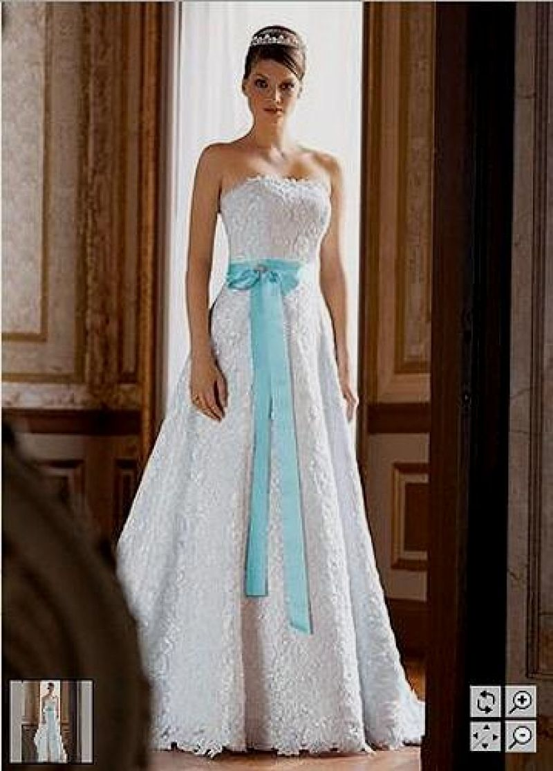 Adorable Tiffany Blue Wedding Dress Sash