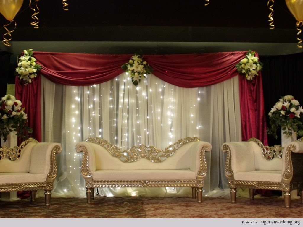 Nigerian wedding stage decoration  Abeer Anwar abeeranwar on Pinterest