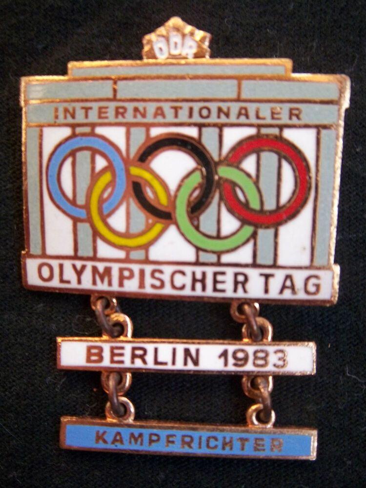 Ebay Sponsored Orig Teilnehmer Pin Int Olympischer Tag Berlin Ddr 1983 Kampfrichter Top Berlin Pins Richter