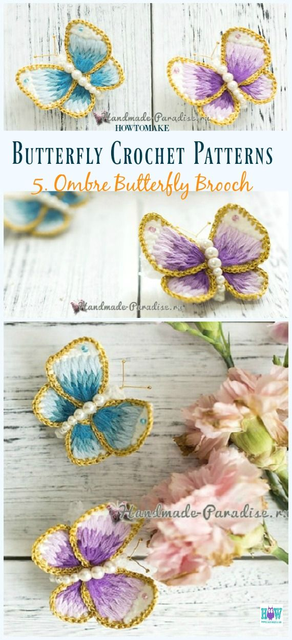 Free Butterfly Crochet Patterns & Projects | . . cutie things ...