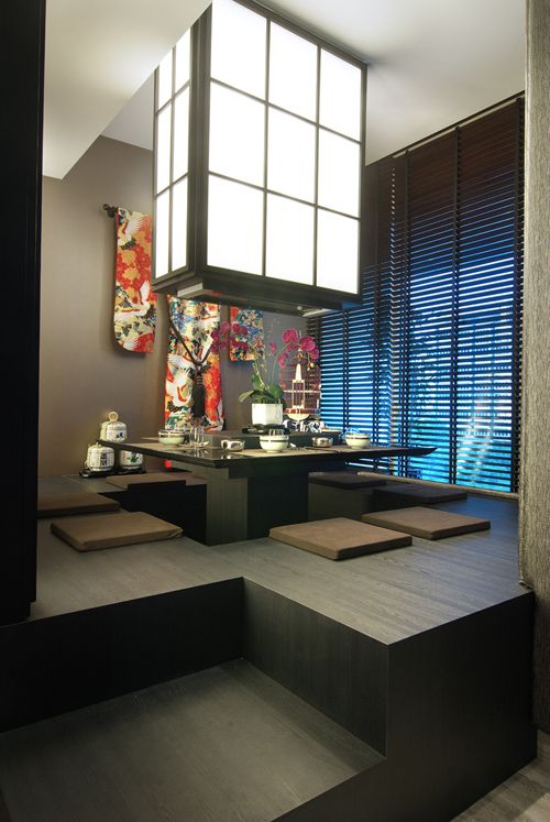 Traditional Asian Living Room: Orchard-residence-dining Me: Neat! I Love The Idea Of A