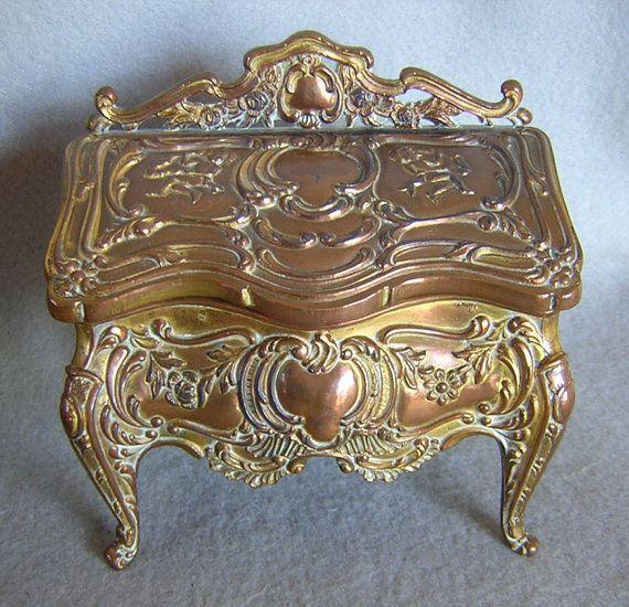 Art nouveau jewelry casket 65 Etsy Ebay and Craigslist finds