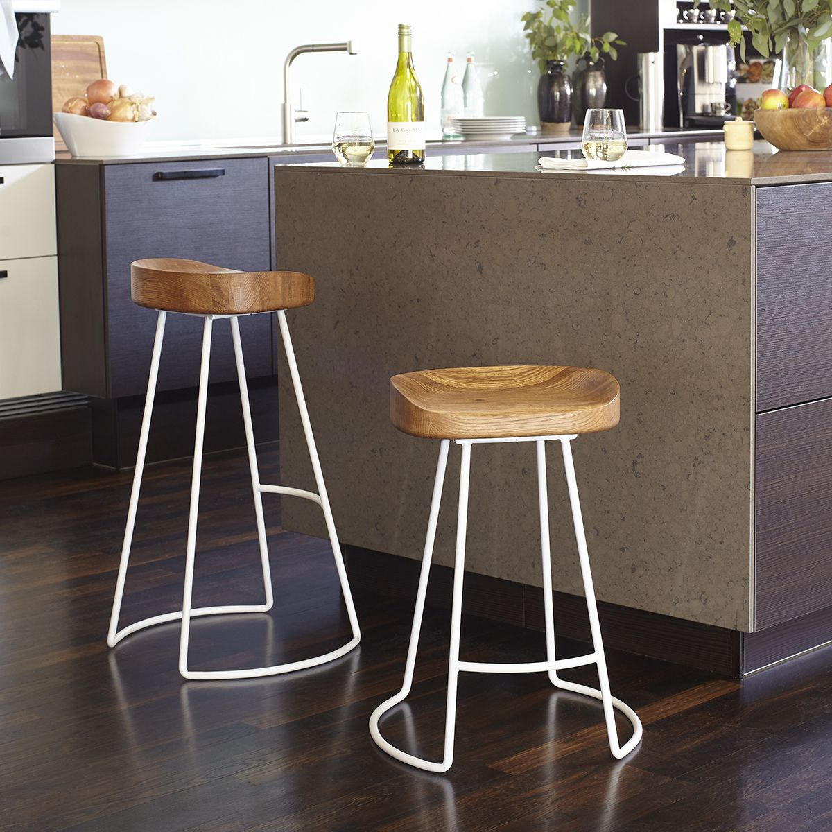 Painted Smart And Sleek Stool Short Products