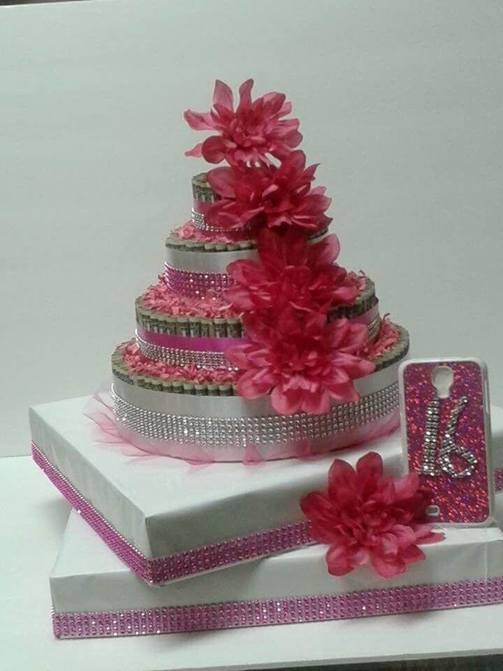 A Sweet 16 Money Cake Money Cakes Pinterest Money
