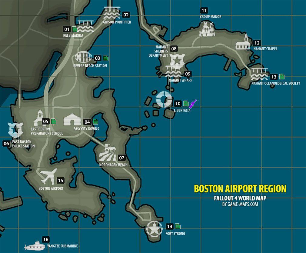 Fallout 4 Boston Airport Region Map Fallout 4 Fallout 4 Map