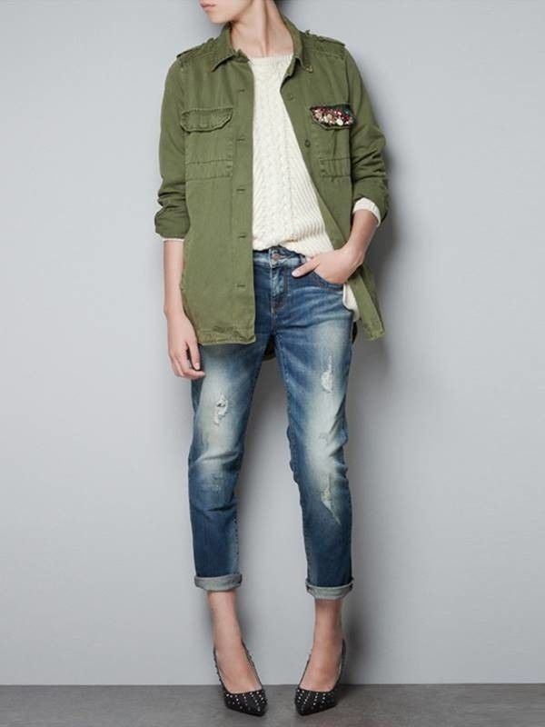 Camisa Militar Feminina - Compre Online  87e1c6b33fb61