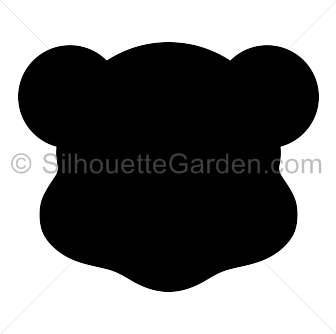 Teddy Bear Head Silhouette Bear Head Silhouette Clip Art Silhouette