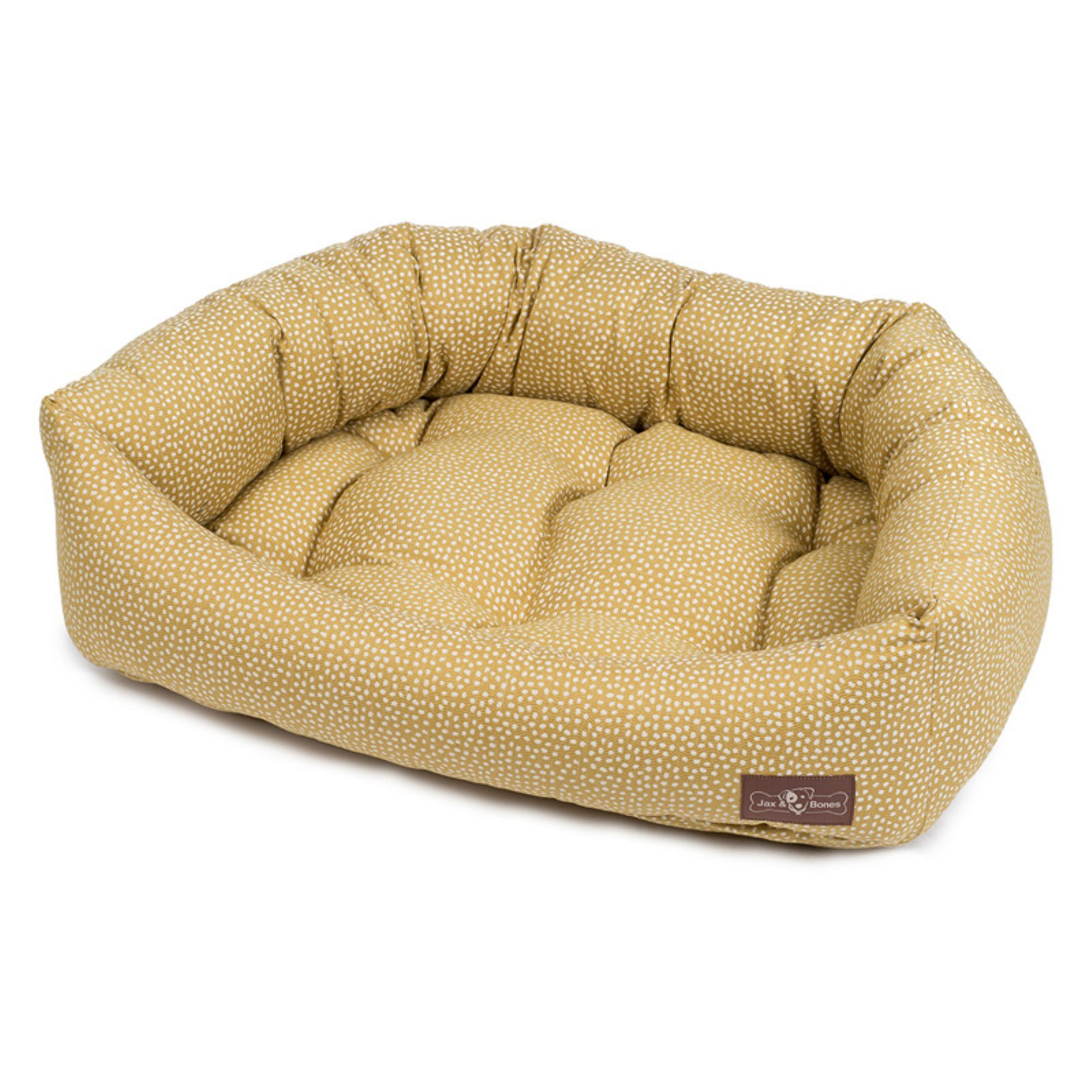 Jax & Bones Premium Fabric Cotton Napper Pet Bed Maize