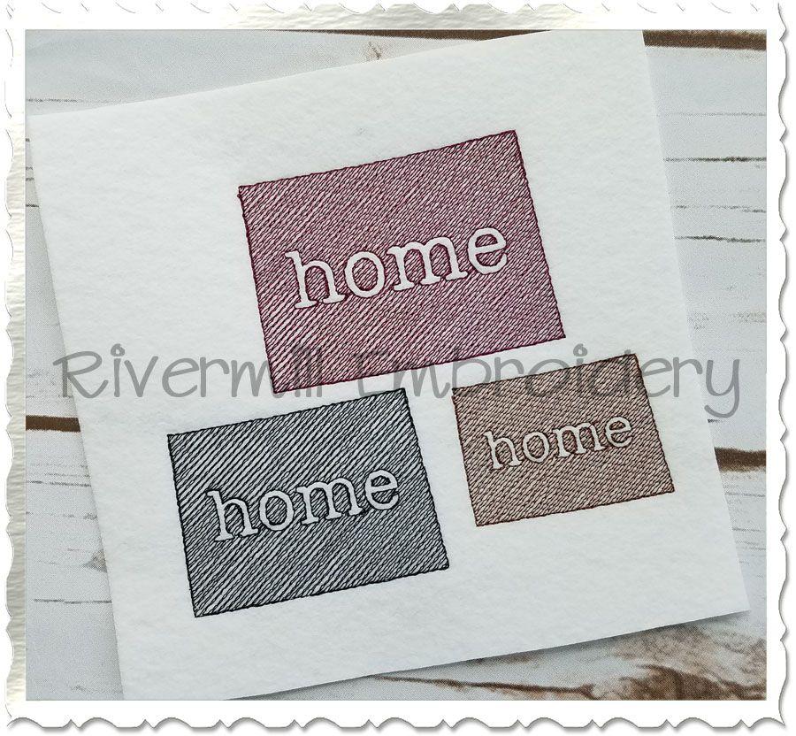$2.95Small Sketch Style Colorado Home Machine Embroidery Design