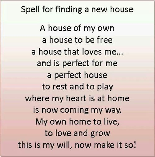 Spell For Finding A New House Spells Witchcraft Spelling Magick