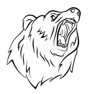Roaring Angry Bear Cartoon Angry Bear Bear Face Drawing Bear Sketch Bear Drawing