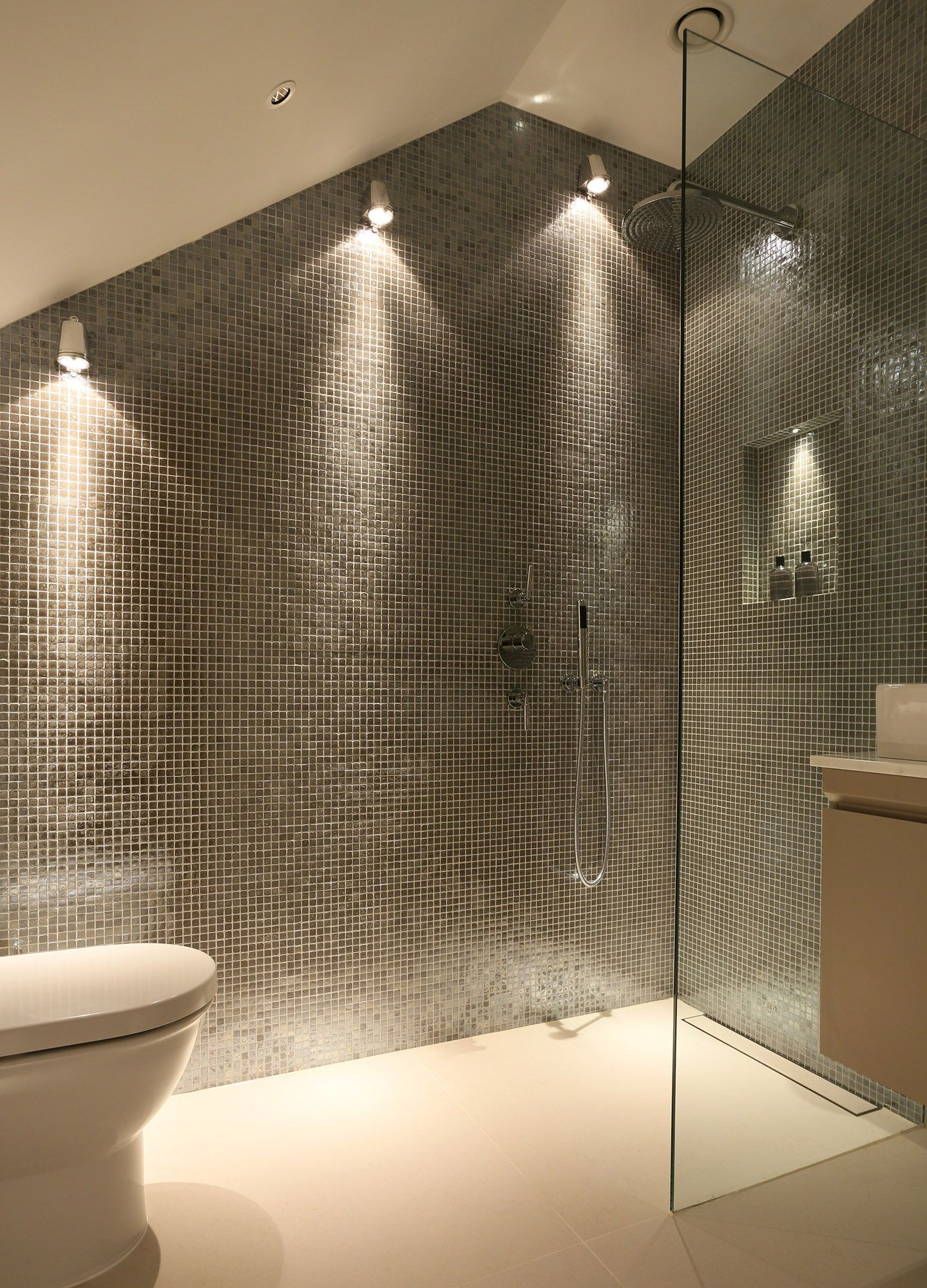 Lighting and mosaic tiles for shower | 7 St Peter\'s Street ...