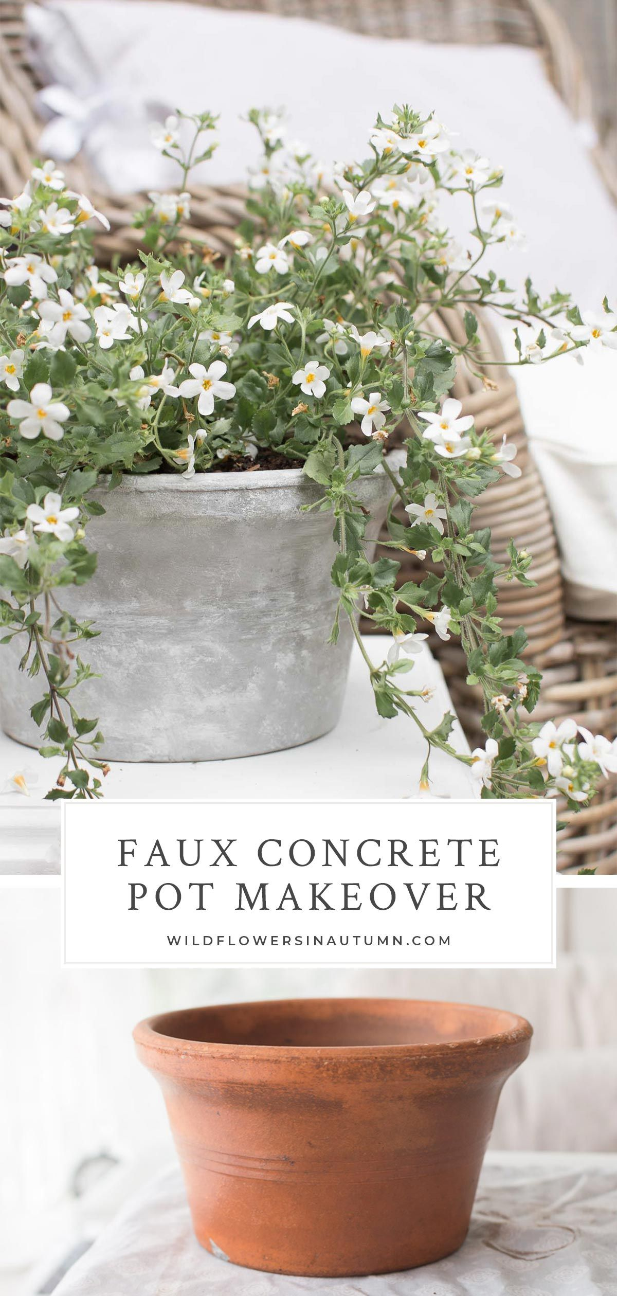 Upcycling Project Update Old Decor With A Faux Concrete Finish This Diy Tutorial Explains How To Give An Concrete Pots Concrete Finishes Outdoor Diy Projects