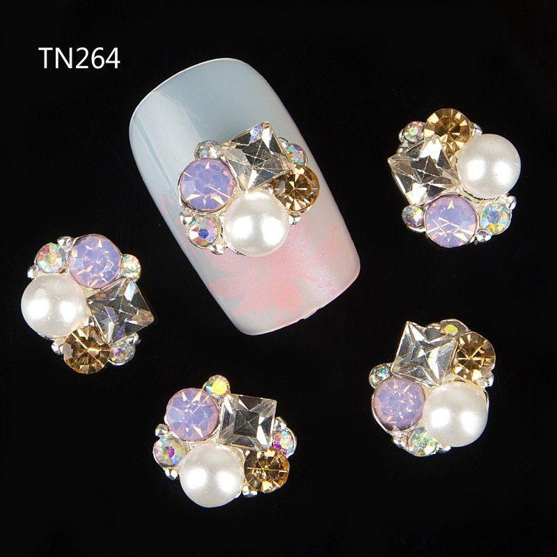 10 stks 3d nagels decoraties komen parel gem ontwerp nail gel sticker lijm steentjes voor nail manicure styling gereedschap