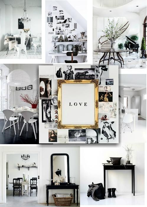 Black And White Inspired Interior